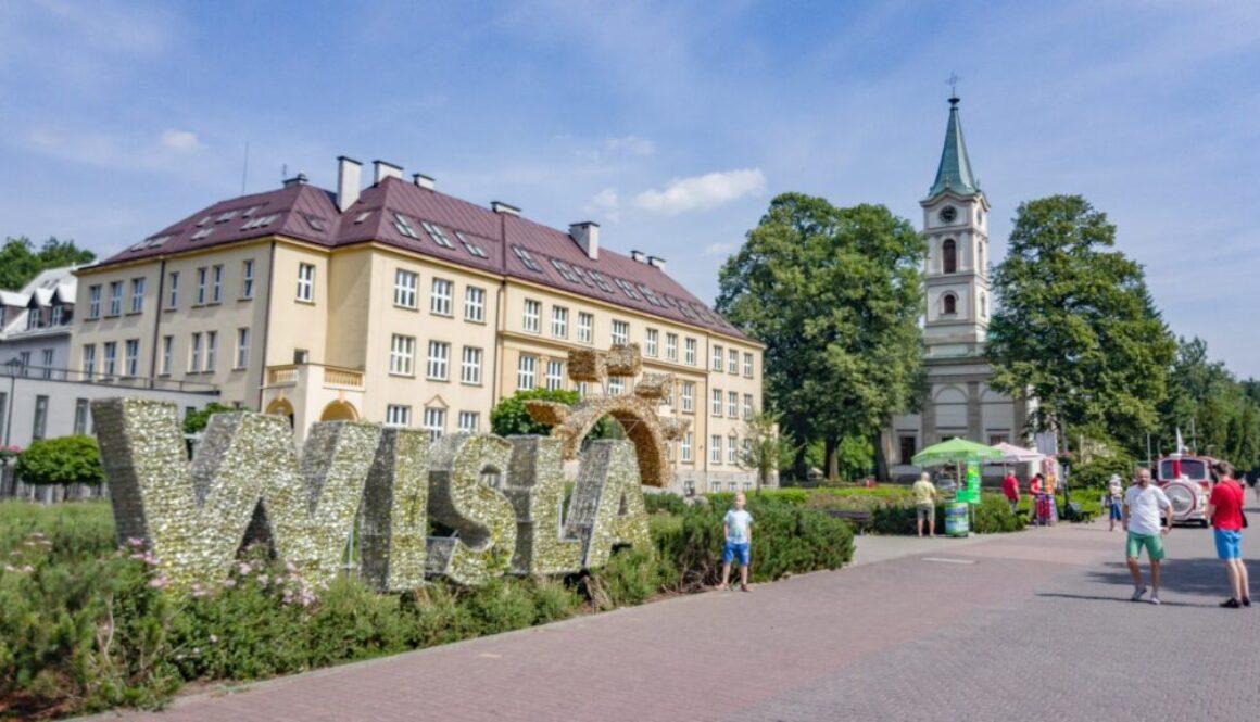 Deptak w centrum Wisły.