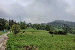 Na Przełęczy Graniczne (752 m n.p.m.).