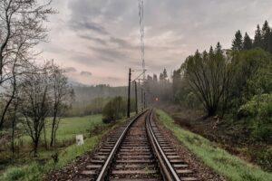 Linia kolejowa ze Zwardonia do Żywca. Odcinek między stacjami w Kiczorze i Soli.