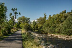 Ścieżka spacerowa i rowerowa w Rycerce Dolnej.