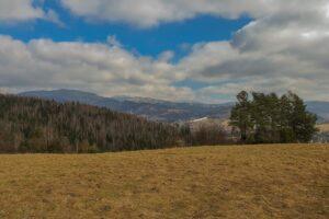 Widok w kierunku Suchej Góry oraz Masywu Lipowskiej i Rysianki.
