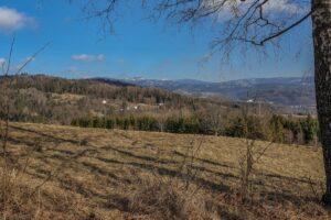 Widok z Chromiczaków na okolice przysiółka Głębokie - tam byliśmy. :)