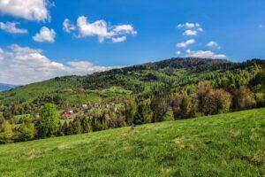 Widok z okolic Hutowego Gronia na Suchą Górę.