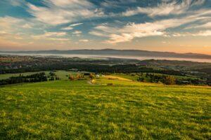 Panorama Gorców z Turbaczem ze szczytu Litwinki.
