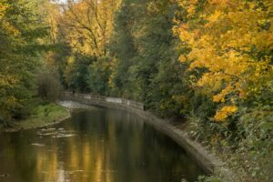 Rzeka Biała w Parku Włókniarzy.