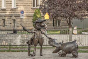 Pomnik Pampaliniego w Bielsku-Białej.