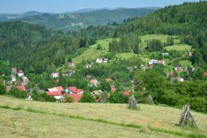 Krajobraz nad Jawornikiem w Wiśle.