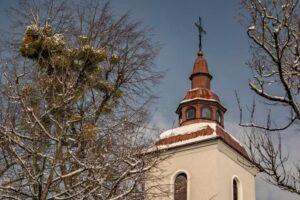 Wieża kościoła św. Trójcy w Bielsku-Białej.