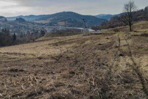 Istniejąca estakada (600 m długości) w sąsiedztwie przyszłego węzła ''Milówka''.
