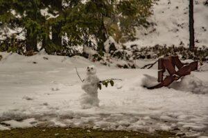 Pierwszy bałwan tej jesieni. ;)