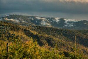 Widok z Malinowa na Baranią Górę.
