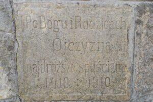 Krzyż Grunwaldu na Sumowej Grapie nad Milówką - Po Bogu i Rodzicach Ojczyzna najdroższa spuścizna 1410 - 1910. (marzec 2020)
