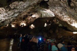 W Demianowskiej Jaskini Wolności w Niżnych Tatrach na Słowacji.