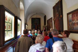 Podczas zwiedzania Klasztoru Bernardynów i Sanktuarium Pasyjno-Maryjnego w Kalwarii Zebrzydowskiej.