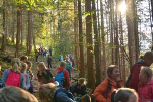 Na leśnym szlaku w promieniach słońca. ;)