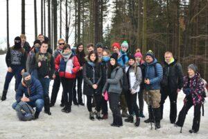 Podczas zimowego wejścia na Baranią Górę.