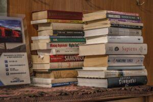 Willa Sól w Soli w Beskidzie Żywieckim. Przypadła mi do gustu duża liczba ogólnodostępnych książek.