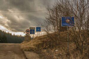 Jedyny ślad po dawnym przejściu granicznym Zwardoń Myto.