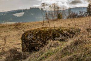 Pozostałość po okopach nad Zwardoniem.