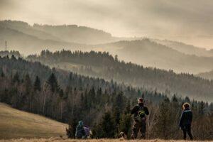 Słowacka rodzinka na tle słowackich gór. :)