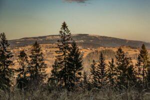 Widok na Baranią Górę z Sołowego Wierchu.