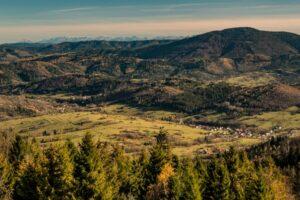 Widok na Sól pod Tatrami. Co ta perspektywa potrafi... ;)